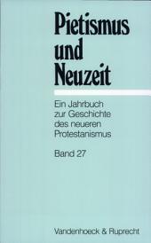 Pietismus und Neuzeit: Bände 27-2001