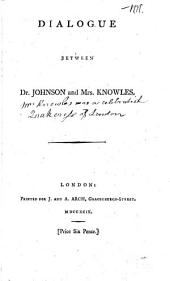 Dialogue between dr. Johnson and mrs. Knowles