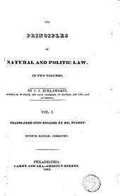 The Principles of Natural and Politic Law: Volumes 1-2