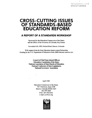 Cross cutting Issues of Standards based Education Reform