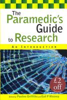 The Paramedic S Guide To Research  An Introduction PDF