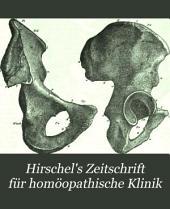 Hirschel's Zeitschrift für homöopathische Klinik: Bände 23-25