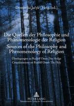 Die Quellen Der Philosophie und Phaenomenologie Der Religion- Sources of the Philosophy and Phenomenology of Religion