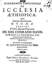 Diss. theol. de ecclesia Aethiopica