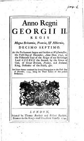 XVII. Geo. II. c. 38. Anno Regni Georgii II. ... decimo septimo, etc. (An Act for remedying some Defects in the Act made in the Forty third Year of the Reign of Queen Elizabeth, intituled: An Act for the Relief of the Poor.) B.L.