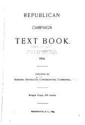 Republican Campaign Text Book: 1894