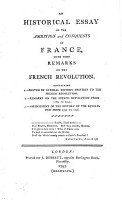 An Historical Essay on the Ambition and Conquests of France PDF