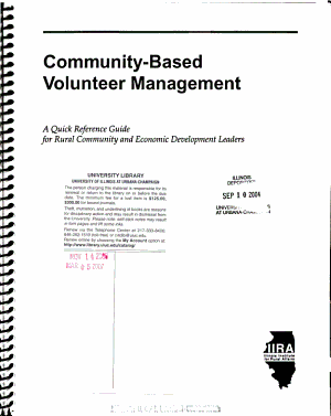 Community based Volunteer Management PDF