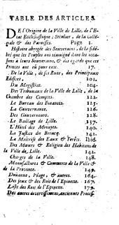 Histoire de Lille et de sa châtellenie