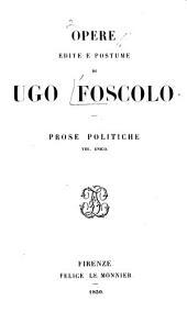 Opere edite e postume di Ugo Foscolo ...