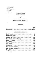 Scottish Historical and Romantic Ballads: Chiefly Ancient, Volume 1