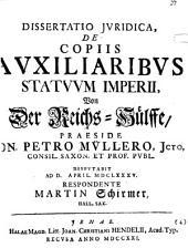 Dissertatio Iuridica, De Copiis Auxiliaribus Statuum Imperii