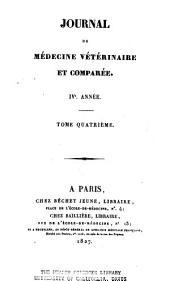 Recueil de médecine vétérinaire: Volume4