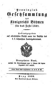 Provincial-gesetzsammlung des Königreichs Bömen: Band 19