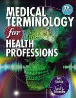 Medical Terminology for Health Professions  Book Only  PDF