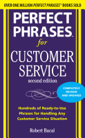 Perfect Phrases for Customer Service  Second Edition PDF