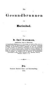 Die Gesundbrunnen zu Marienbad