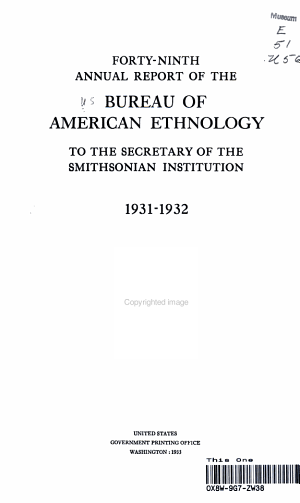 Forty ninth Annual Report of the Bureau Of American Ethnology  PDF