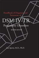 Handbook of Diagnosis and Treatment of DSM IV Personality Disorders PDF