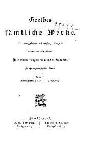 Goethes sämtliche Werke: Bände 25-27