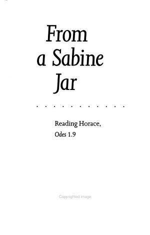 From a Sabine jar
