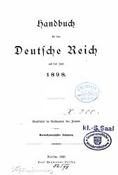 Handbuch für das Deutsche Reich ...