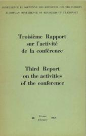 Third Report on the activities of the conference 1956