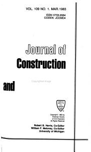Journal of Construction Engineering and Management PDF