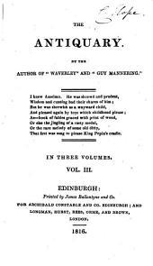 The Antiquary: Volume 3