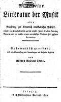 Allgemeine Litteratur der musik PDF