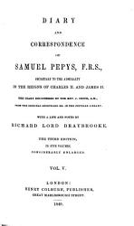 Diary and Correspondence of Samuel Pepys  F R S  PDF