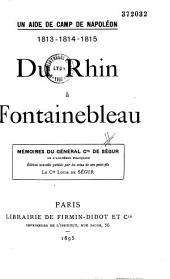 Mémoires du général Comte de Ségur