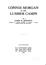 Connie Morgan in the Lumber Camps