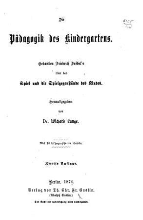 Friedrich Fr  bel s Gesammelte p  dogogische schriften PDF