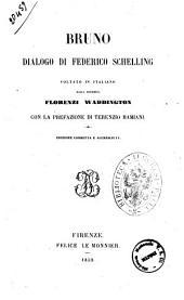 Bruno dialogo di Federico Schelling