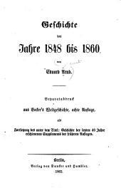 Geschichte der Jahre 1848 bis 1860