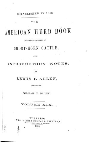 The American Short horn Herd Book