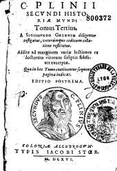 C. Plinii Secundi Historiae mundi libri XXXVII. A Sigismundo Gelenio...