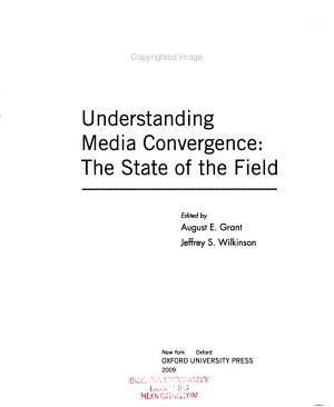 Understanding Media Convergence PDF