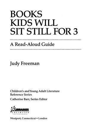 Books Kids Will Sit Still for 3 PDF