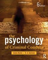 The Psychology of Criminal Conduct PDF