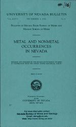 B016: Metal and nonmetal occurrences in Nevada