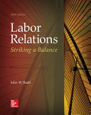Labor Relations  Striking a Balance PDF