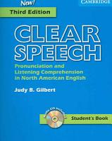 Clear Speech Student s Book with Audio CD PDF