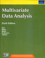 Multivariate Data Analysis PDF