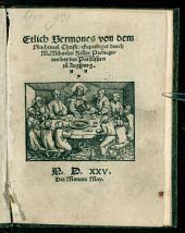 Etliche Sermones von dem Nachtmahl Christi