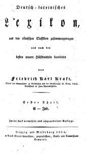 Deutsch-lateinisches Lexikon: Band 1
