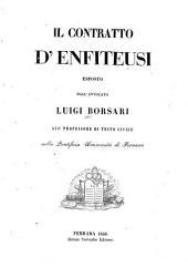 Collezione di leggi e ordinamenti per servire all'opera il contratto d'enfiteusi: Volume 2