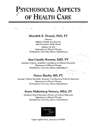 Psychosocial Aspects of Health Care PDF