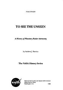 To See the Unseen PDF